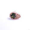 Pavé Teardrop Press-fit End in Gold from BVLA with Green Tourmaline