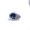 Pavé Teardrop Press-fit End in Gold from BVLA with London Blue Topaz