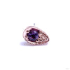 Pavé Teardrop Press-fit End in Gold from BVLA with Amethyst