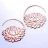 Petal to the Metal Earrings from Maya Jewelry in Rose Gold-plated Copper