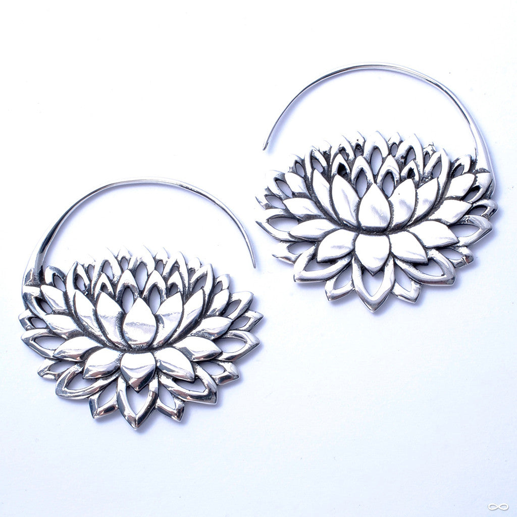 Petal to the Metal Earrings from Maya Jewelry in Silver