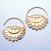 Petal to the Metal Earrings from Maya Jewelry in Yellow Gold-plated Brass