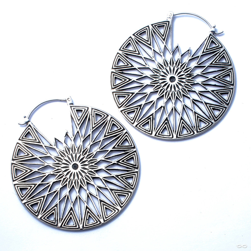 Polaris Earrings from Maya Jewelry in White Brass