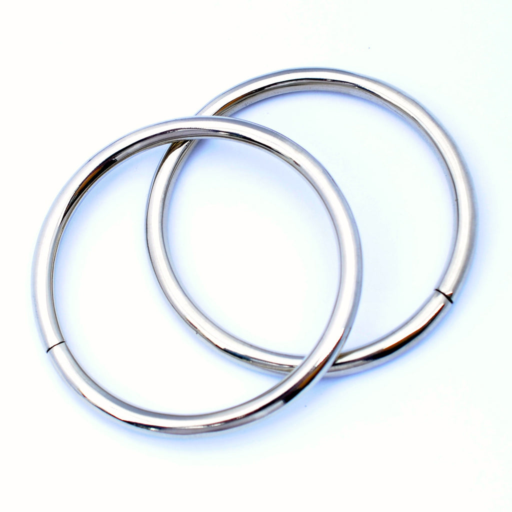 Polished Hoop Weights from Eleven44 in Large