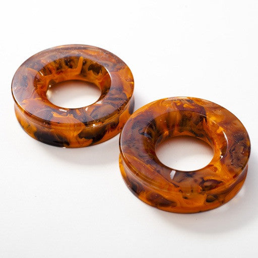 "Power Eyelets in Tangerine and Brown in 2"" from Gorilla Glass"