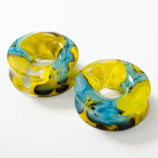 "Power Eyelets in Bright Blue and Yellow in 1 ¼"" from Gorilla Glass"