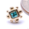 Princess with 8 Beads Press-fit End in Gold from BVLA with Mint CZ