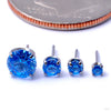 Prong-set Gemstone Press-fit End in Titanium from NeoMetal with Sapphire