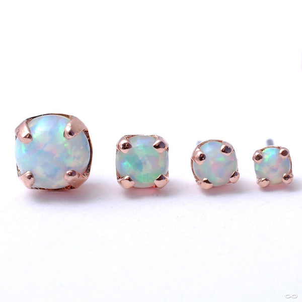 Prong-set Opal Press-fit End in Gold from LeRoi in Assorted Sizes