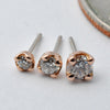 Prong-set Diamond Press-fit End in Gold from BVLA in Rose Gold