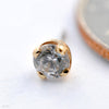 Prong-set Diamond Press-fit End in Gold from BVLA in Yellow Gold