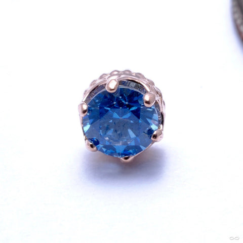 Queen Press-fit End in Gold from Anatometal with Arctic Blue