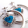 Queen of Hearts in Silver with Turquoise from Maya Jewelry
