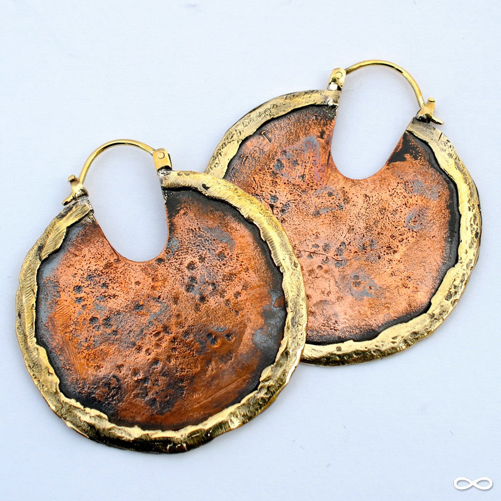 Road Warrior Earrings from Maya Jewelry in Copper & Brass