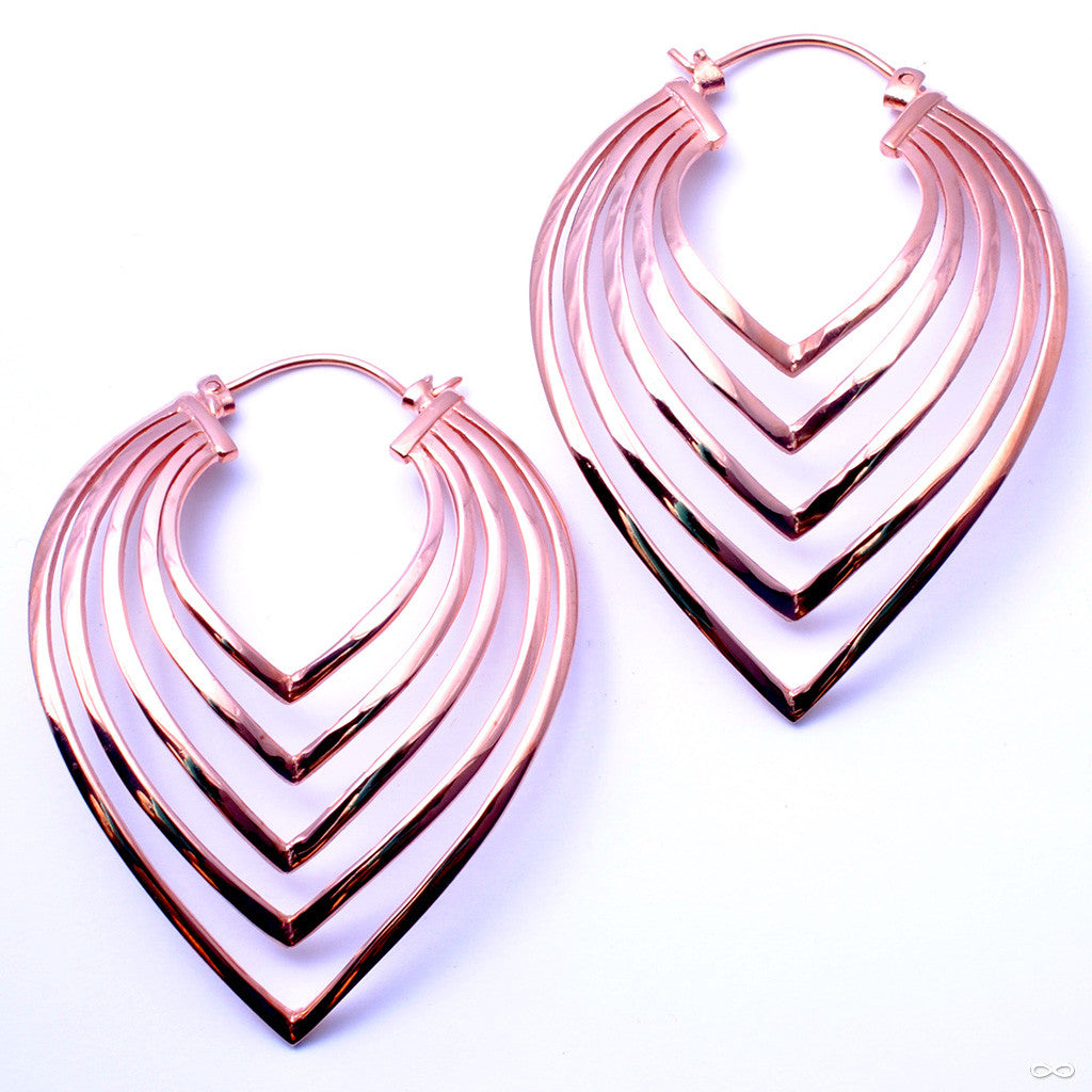 Shapeshifter Earrings from Maya Jewelry in Rose Gold-plated Copper