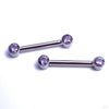 Side-set Gem Barbell in Titanium from Anatometal with Amethyst