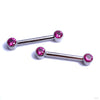 Side-set Gem Barbell in Titanium from Anatometal with Ruby