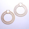 Snakeskin Hoop Earrings from Tawapa in Yellow-gold-plated Brass