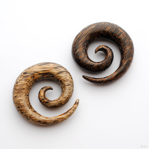 Spirals in Wood from Buddha Jewelry in Coco Wood