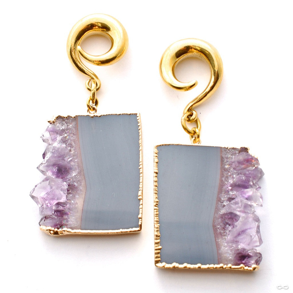 Amethyst Rectangle Stalactite Dangles from Diablo Organics