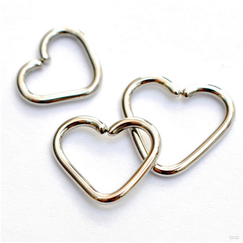 Heart Ring in Stainless Steel from LeRoi