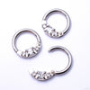 Princess Clicker in Titanium from Venus by Maria Tash with Clear CZ