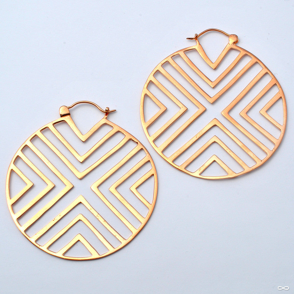 The XX Earrings from Tawapa in Rose Gold