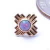 Zia Press-fit End in Gold from LeRoi with Lavender Opal