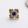 Zia Press-fit End in Gold from LeRoi with Amethyst