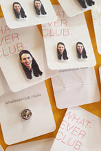 Jacinda Ardern earrings or pin!