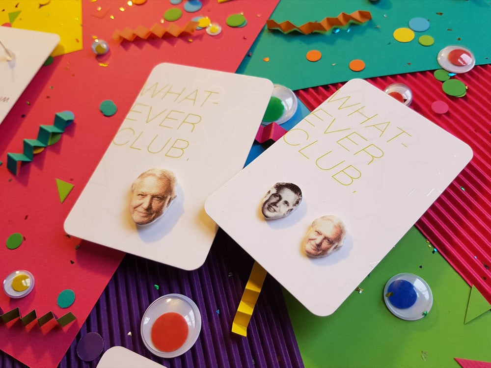 David Attenborough earrings