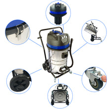 40ft (3 Story) Gutter Vacuum Cleaning System, 16 Gal, 3600 Watts, 3 x Motor Vacuum (Bundle Discount) w/NEW SIDE INLET
