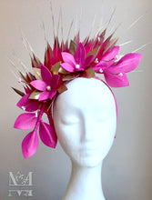 Georgie - Pink & Gold Leather Fascinator - MM303