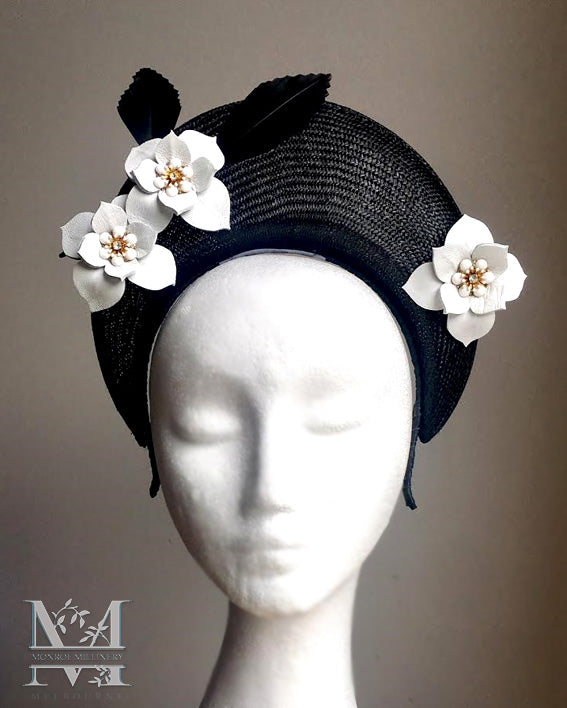 Jane - Straw and Leather Crown - MM246