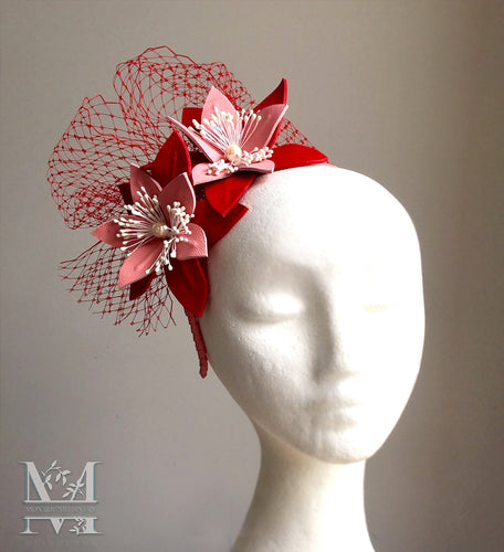 JoJo Leather Fascinator - MM286