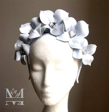 Lily - Leather Flower Crown - Ice Blue - MM253