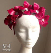 Lily Leather Flower Crown - Plum - MM263
