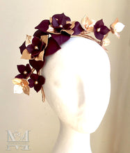 Maisy - Burgundy & Rose Gold Flower Crown - MM233