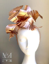 Matilda - Rose Gold Leather Feather Crown - MM269