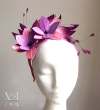 Sally  Leather & Feather Fascinator - MM293