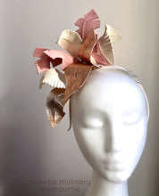 Pink & Rose Gold Leather Fascinator