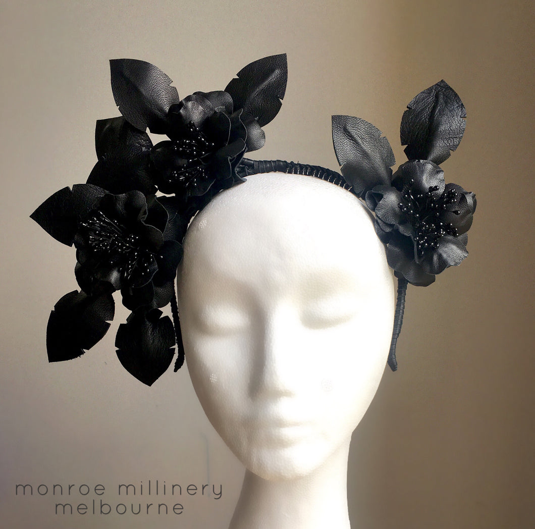 Amelia - Rose Flower Crown - MM229 - Black or White