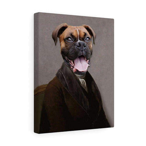 """The Scholar"" - Male Pet Vignettes Canvas Gallery Wraps"