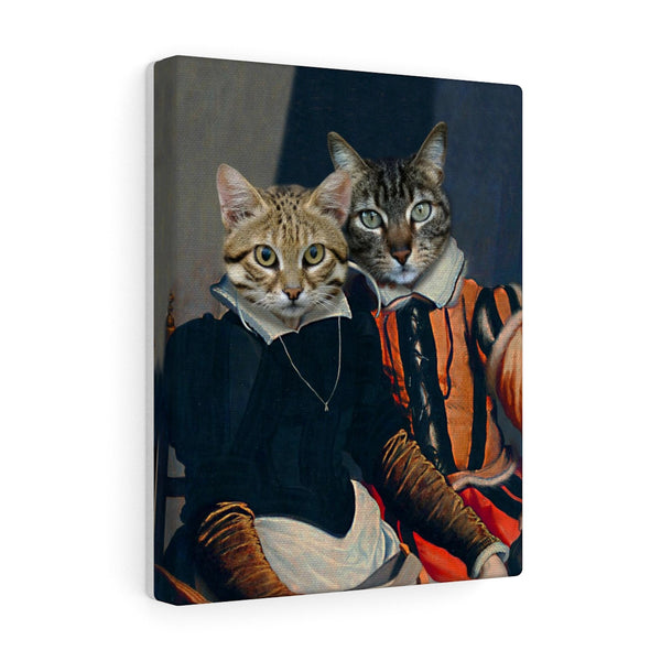 """The Royals"" - Couple Pet Vignettes Canvas Gallery Wraps"