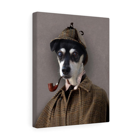 """The Detective"" - Male Pet Vignettes Canvas Gallery Wraps"