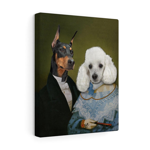 """The Nobles"" - Couple Pet Vignettes Canvas Gallery Wraps"