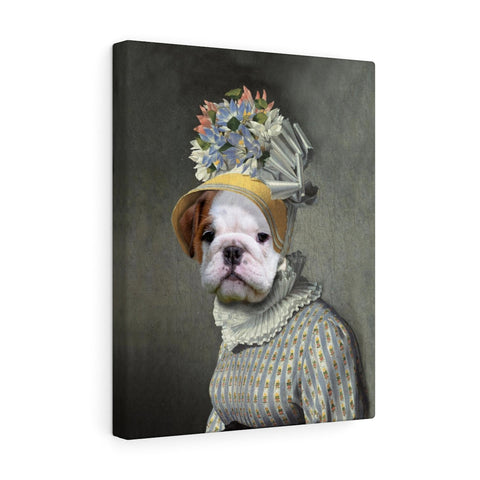 """The Dame"" - Female Pet Vignettes Canvas Gallery Wraps"