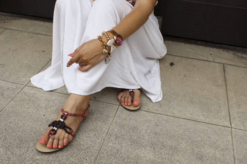 spring sandals | white maxi dress