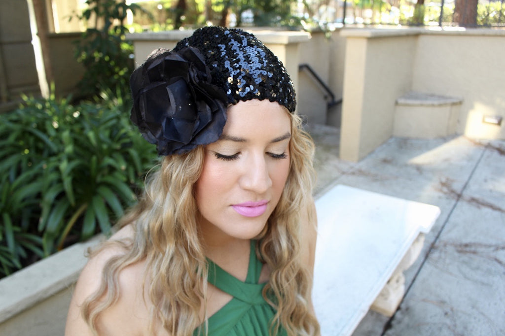 sequin headpiece