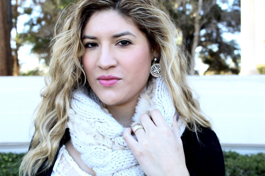 faux fur scarf | winter clothes